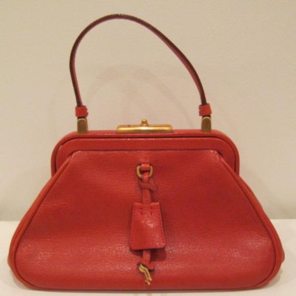 c4336b05bb5160 Prada Bags | Vintage Red Small Leather Handheld Purse | Poshmark